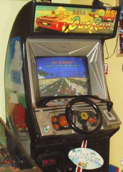 Sega Outrun deluxe upright arcade game