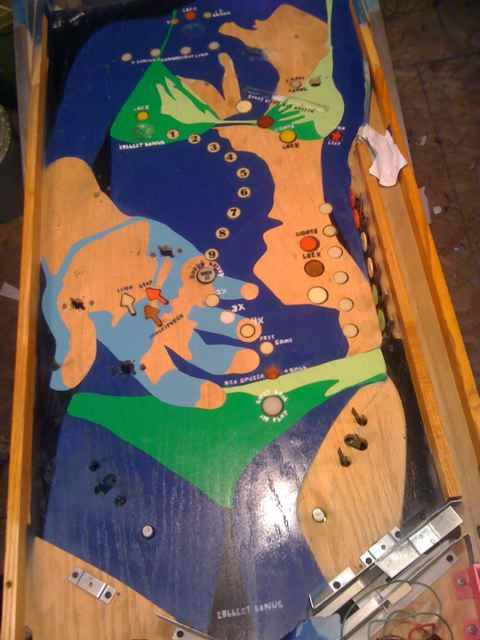 Galactic Girl custom pinball machine playfield image