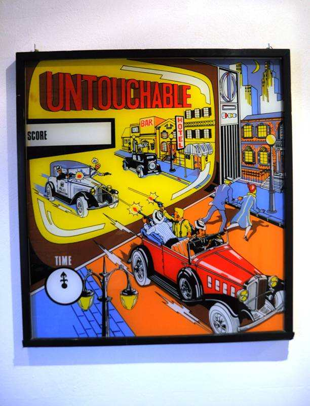 Untouchable pinball backglass