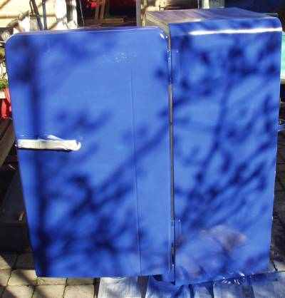 fridge with new color paint