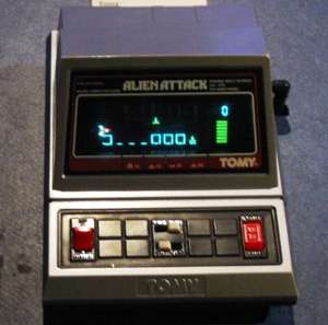 handheld alien attack game