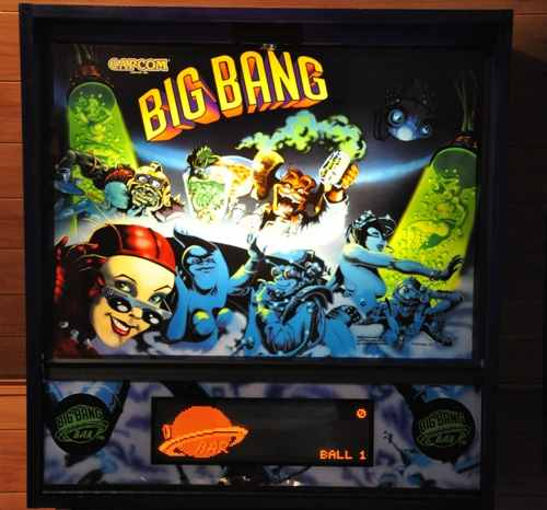 Big Bang Bar pinball backglass