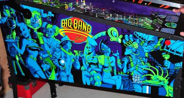Big Bang Bar pinball cabinet artwork
