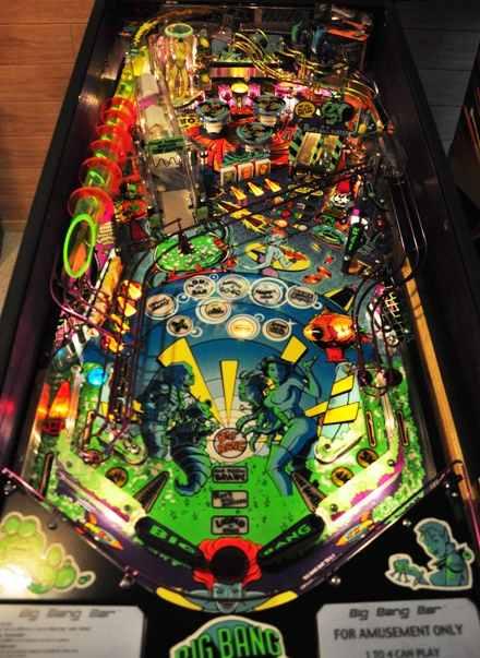 Big Bang Bar pinball playfield