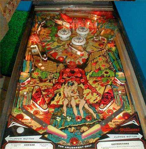 Gorgar playfield