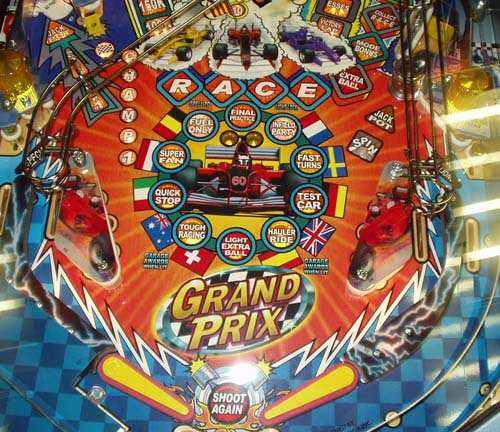 Stern Grand Prix Nascar lower playfield