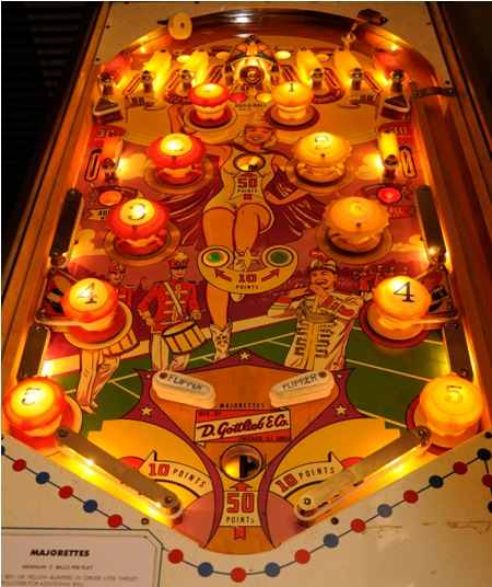 Gottlieb Majorettes playfield