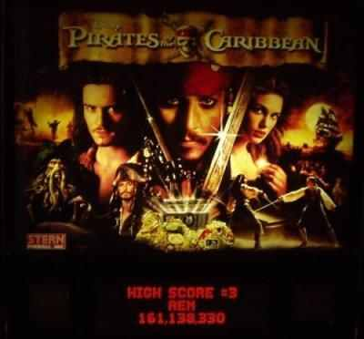 Stern Pirates of the Caribbean backbox