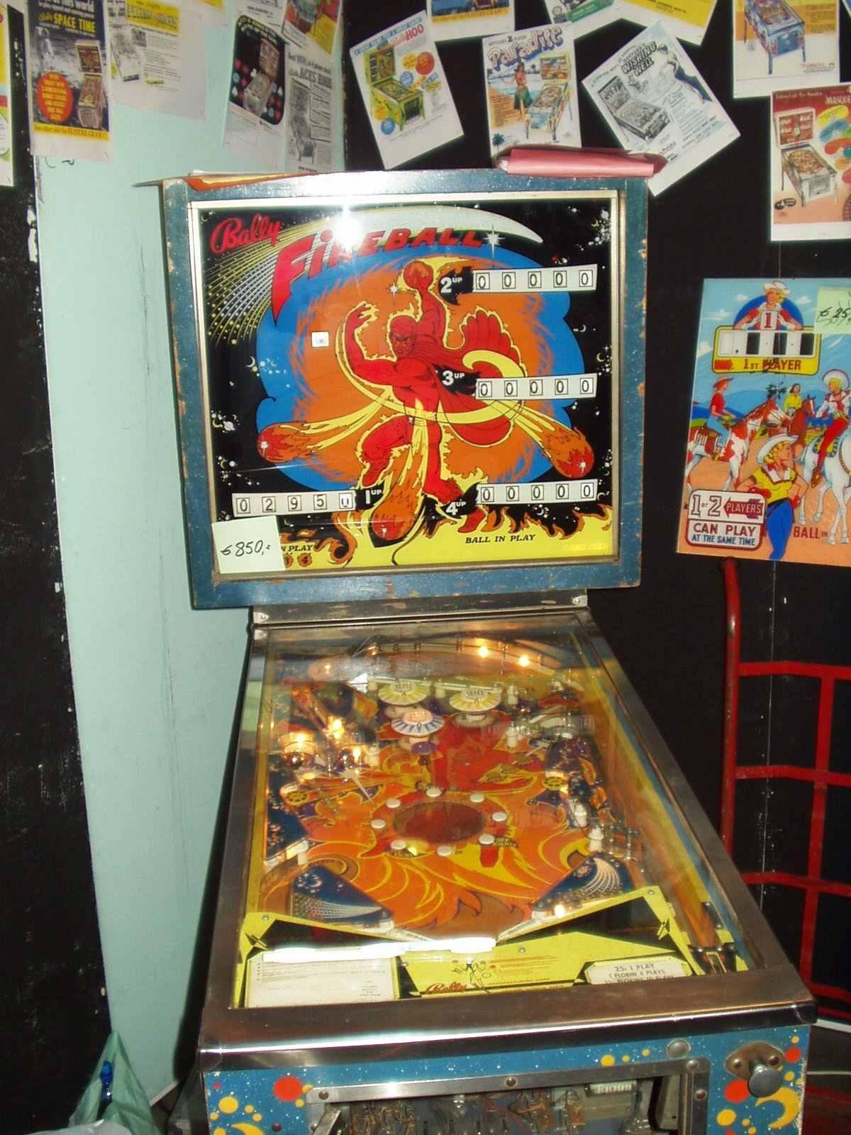 Bally fireball pinball machine