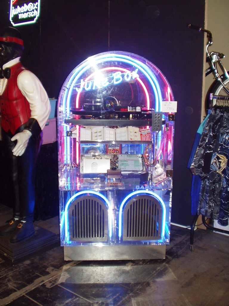 transparant neon jukebox