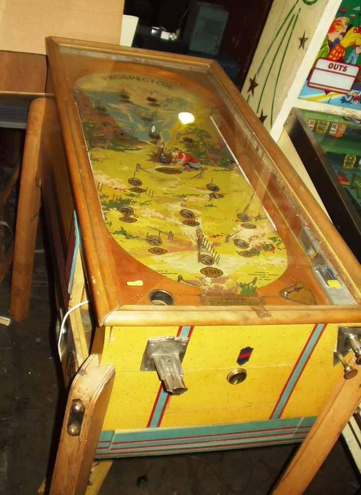 antique flipperless pinball