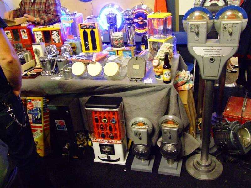 parking meters, martini clock