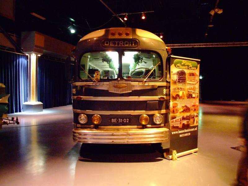 classic restored coach bus