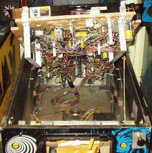 playfield on support rod