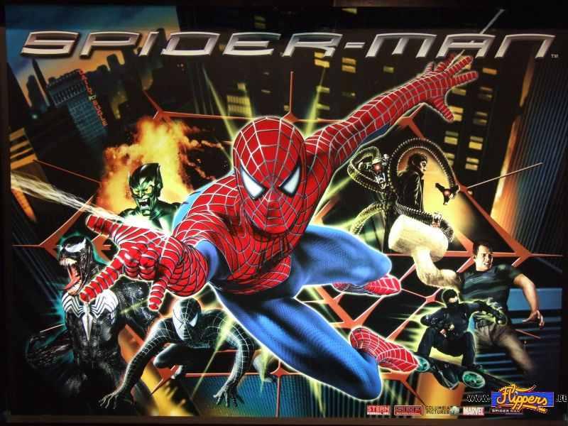 Spiderman backglass