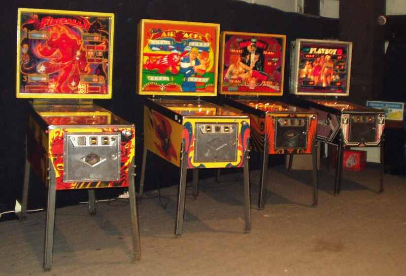 Fireball 2, Air Aces, Playboy, Mata Hari pinball machines